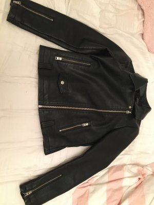 Topshop Giacca in ecopelle nero