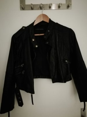 Topshop Giacca in pelle nero