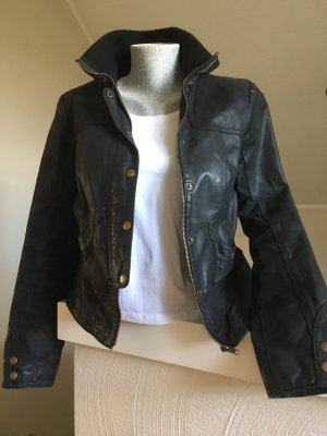 Lederjacke, Vero Moda, schwarz, Größe M