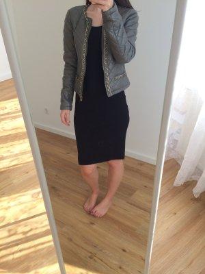Vila Faux Leather Jacket grey-dark grey