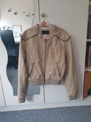 Vila Leather Jacket pink