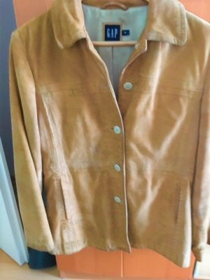 Gap Leather Blazer sand brown leather