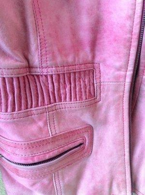 """Lederjacke """"Vintage"""" handschuhweich tailliert mit Gummizug Gr. 38"""