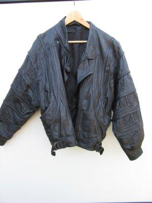 Lederjacke Vintage Retro schwarz Gr. L XL