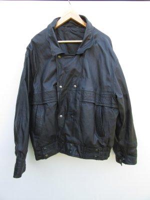 Lederjacke Vintage Retro schwarz Gr. L/XL