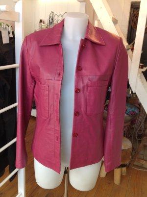 Lederjacke von Alba Moda in Pink