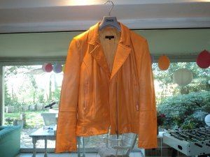 Aust Leather Jacket light orange leather