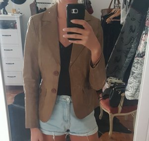 Blend Blazer in pelle marrone chiaro