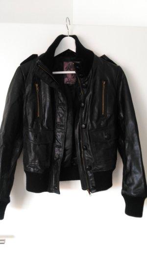 Lederjacke von BLEND schwarz