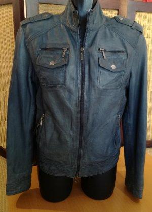 Cabrini Leather Jacket slate-gray leather
