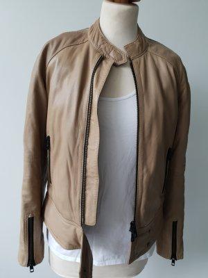 Closed Leather Jacket beige