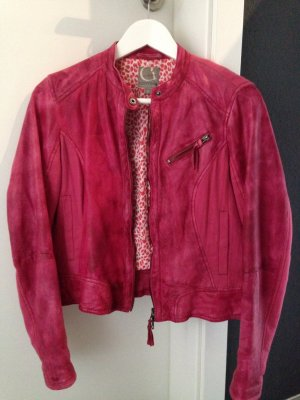 Lederjacke von Comma Casual Identity in Pink