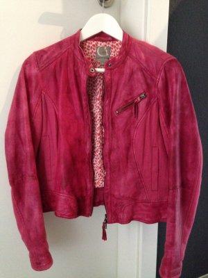 Lederjacke von Comma Casual Identity in Pink