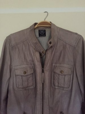 Comma Leather Jacket grey-grey brown