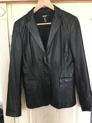 Lederjacke von DKNY in schwarz