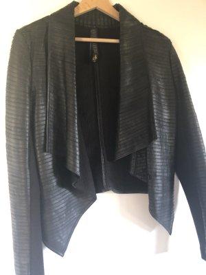 Freaky Nation Leather Jacket black