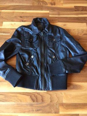 Lederjacke von Gipsy in schwarz