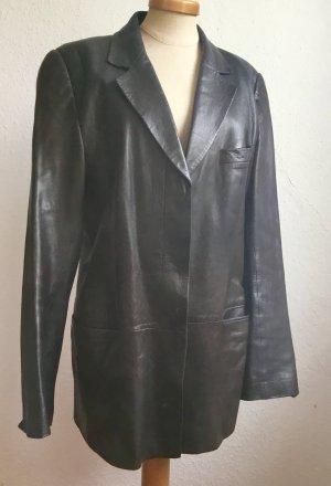 Gucci Blazer in pelle marrone-nero Pelle