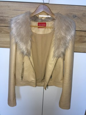 Guess Faux Leather Jacket multicolored