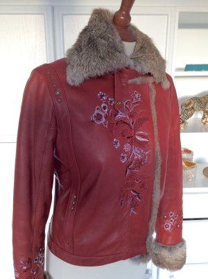 Lederjacke von GUESS by Marciano Gr. 36 / S Leder Jacke Fell Pelz Winterjacke