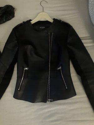 Guess Leather Jacket black polyurethane
