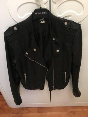 Lederjacke von H & M in Schwarz