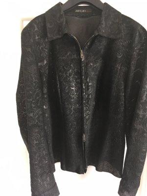 Marc Cain Veste chemisier noir cuir