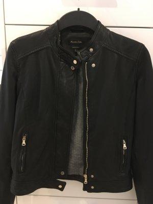 Lederjacke von Massimo Dutti in schwarz!