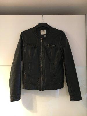 Only Veste en cuir noir