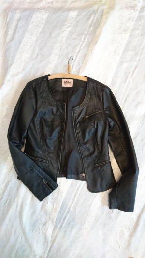 Lederjacke von Only in schwarz