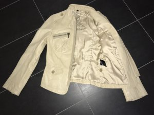 Leather Jacket pale yellow leather