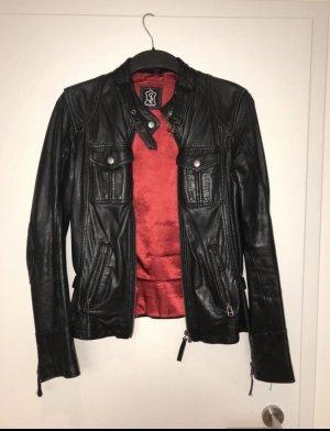 Lederjacke von SL schwarz Gr.38