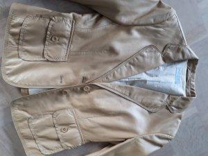 Blue Strenesse Leather Jacket beige