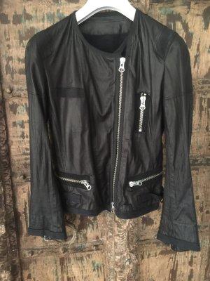sylvie schimmel Paris Leather Jacket black