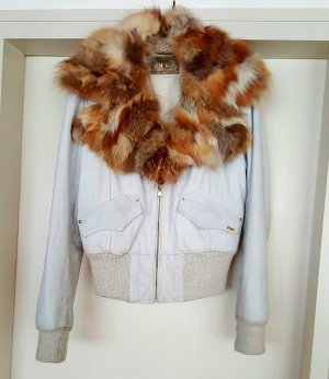 Lederjacke von Take Two Gr. M in Creme
