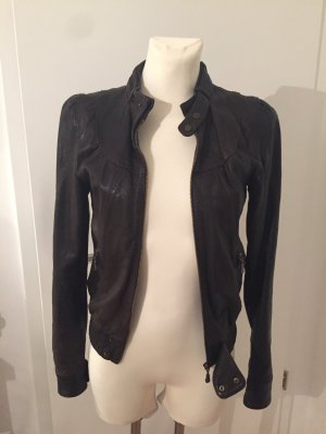 Lederjacke von Ted Baker London Gr. 0 ( 34/36 )