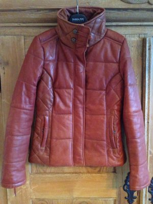 Lederjacke von Tom Tailor Polo in Cognac Gr. 34