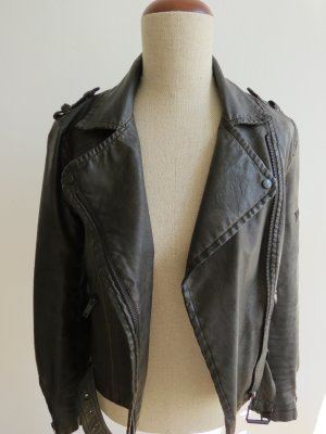 Lederjacke von Zara Bikerjacke schwarz