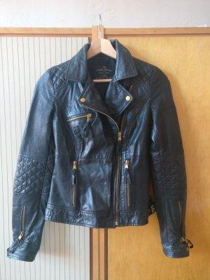 Lederjacke von Zara, Bikerjacke, schwarz, Gr.S
