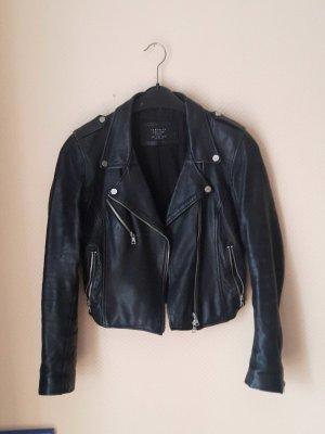 Lederjacke von Zara Größe M