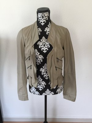 Zara Leather Jacket cream