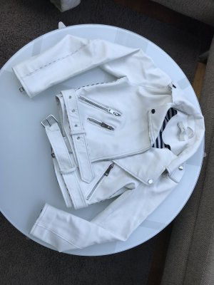 Lederjacke Weiß