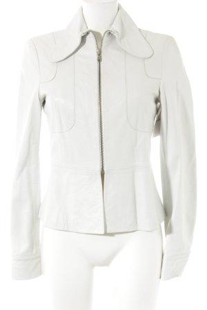 Lederjacke weiß extravaganter Stil
