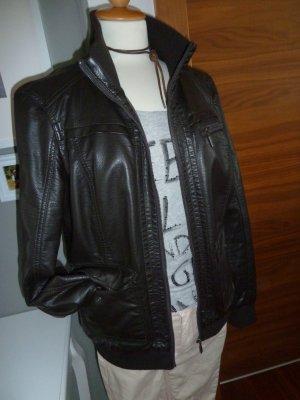 Lederjacke #wieEcht #butterweich Gr. 40 Esprit schwarz Blousonform