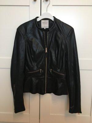 Zara Veste en cuir synthétique noir-doré