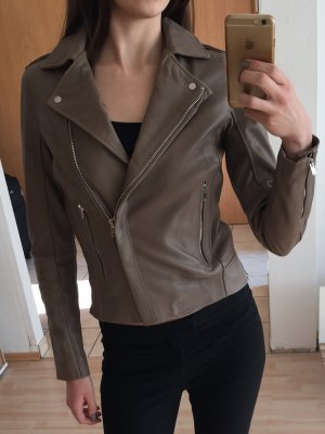 Lederjacke Zara beige