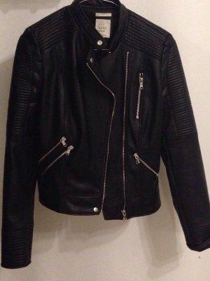 Lederjacke Zara schwarz