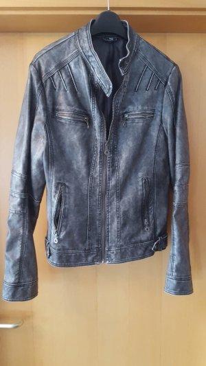 Faux Leather Jacket grey