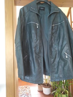 Bexleys Faux Leather Jacket dark green