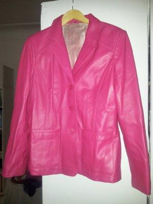 Lederjackett Blazer Gr. 38/40 pink